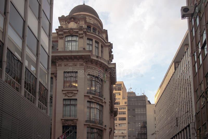 Oud Sao Paulo van de binnenstad, Brazilië royalty-vrije stock afbeelding