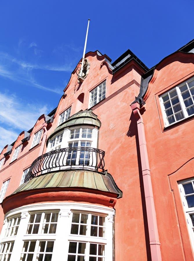 Oud Scharinska-huis in Ume stock foto