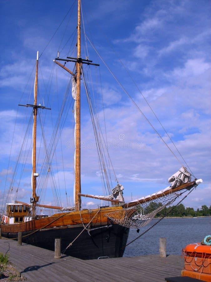 Oud schip stock foto