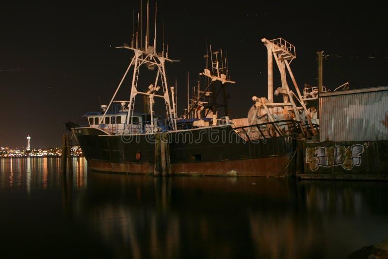 Oud schip in de haven royalty-vrije stock foto's
