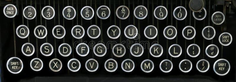 Oud schrijfmachinetoetsenbord royalty-vrije stock afbeelding