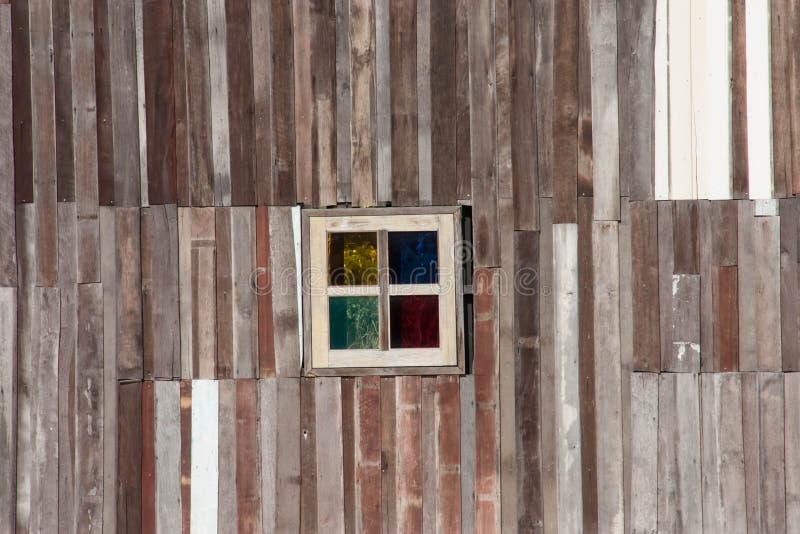 Oud schuur houten venster royalty-vrije stock afbeeldingen