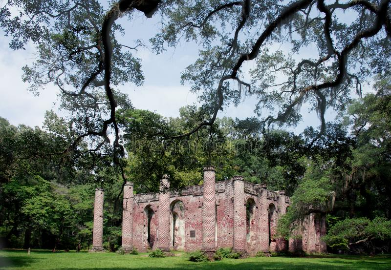 Oud Sheldon Church Ruins royalty-vrije stock fotografie