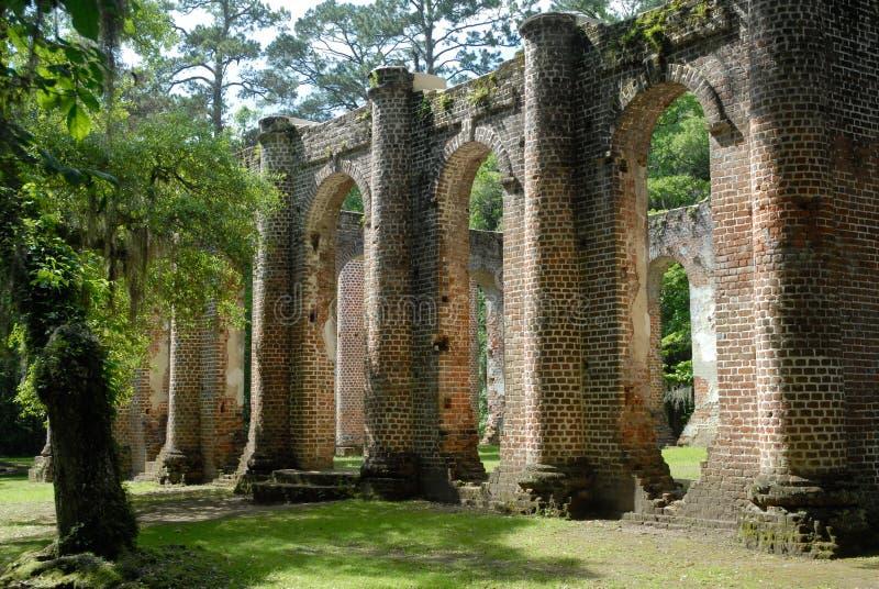 Oud Sheldon Church Ruins stock afbeeldingen