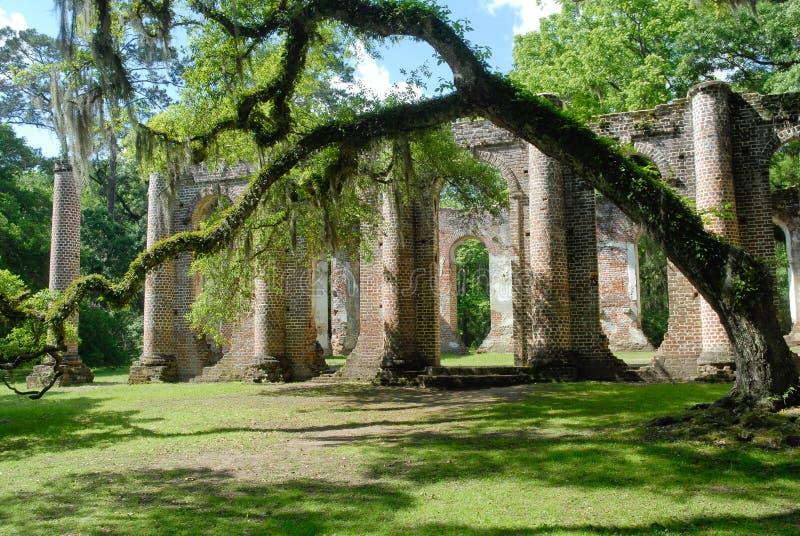 Oud Sheldon Church Ruins stock foto