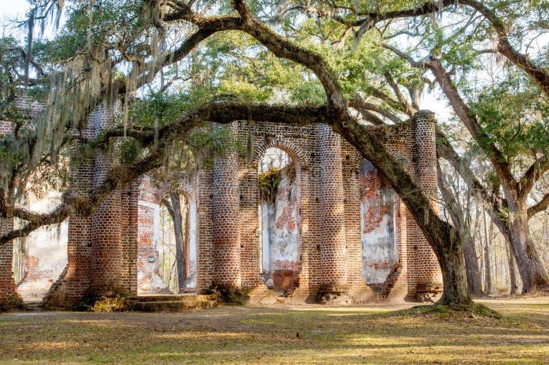 Oud Sheldon Church Ruins royalty-vrije stock foto