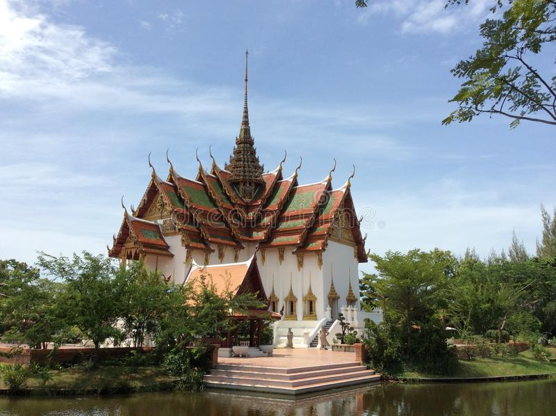 Oud Siam in BANGKOK stock afbeelding