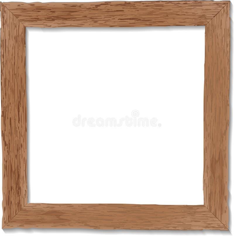 Oud, sjofel, grunge houten kader Vector illustratie stock afbeeldingen