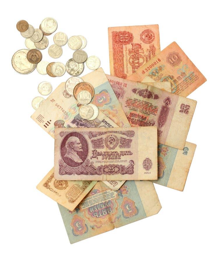 Oud sovjet Russisch geld royalty-vrije stock afbeelding