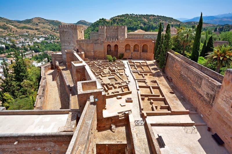 Oud Spaans kasteel stock fotografie