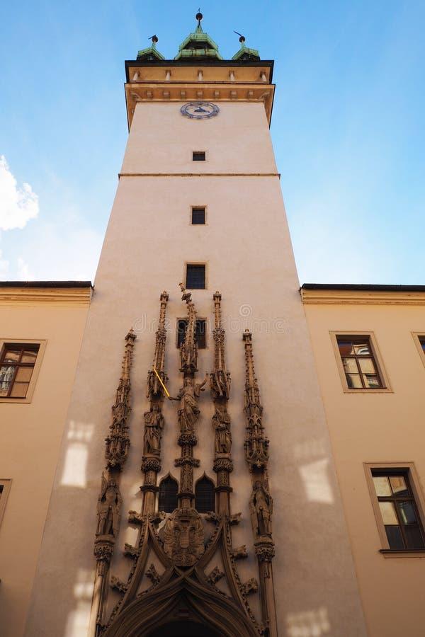 Oud stadhuis in Brno, Tsjechische republiek stock foto