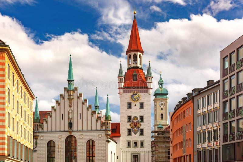 Oud Stadhuis in München, Duitsland stock foto