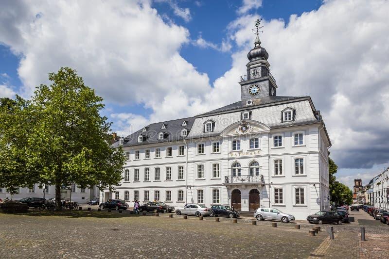 Oud stadhuis Saarbruecken royalty-vrije stock afbeeldingen