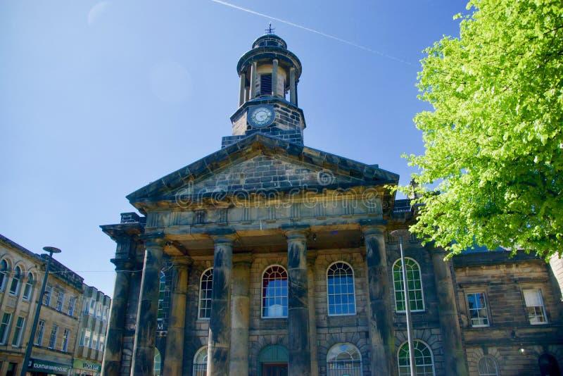 Oud stadhuis van Lancaster stock afbeeldingen