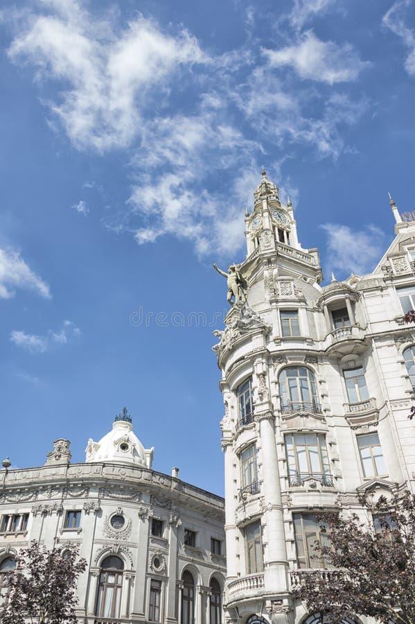 Oud stadhuis van Porto, Portugal stock fotografie