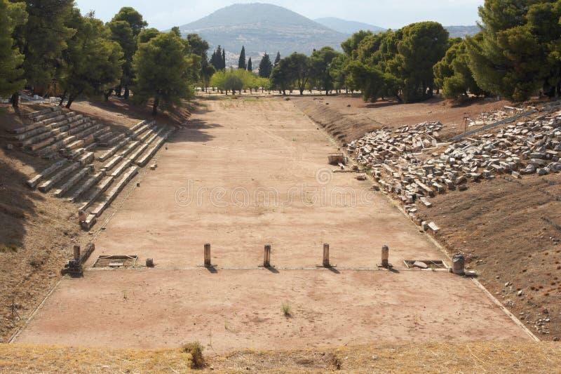 Oud stadion stock afbeeldingen