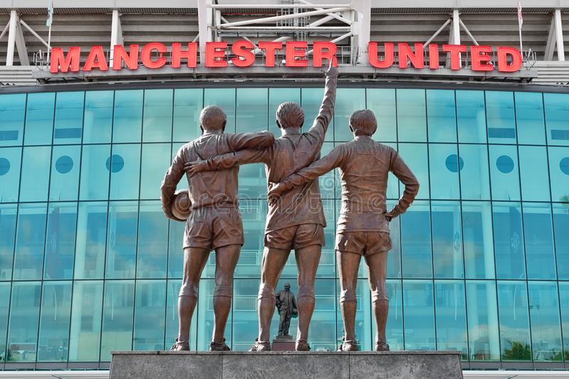 Oud stadion Trafford royalty-vrije stock foto