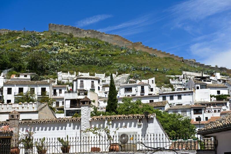 Oud stadsdistrict Albayzin, Granada stock fotografie