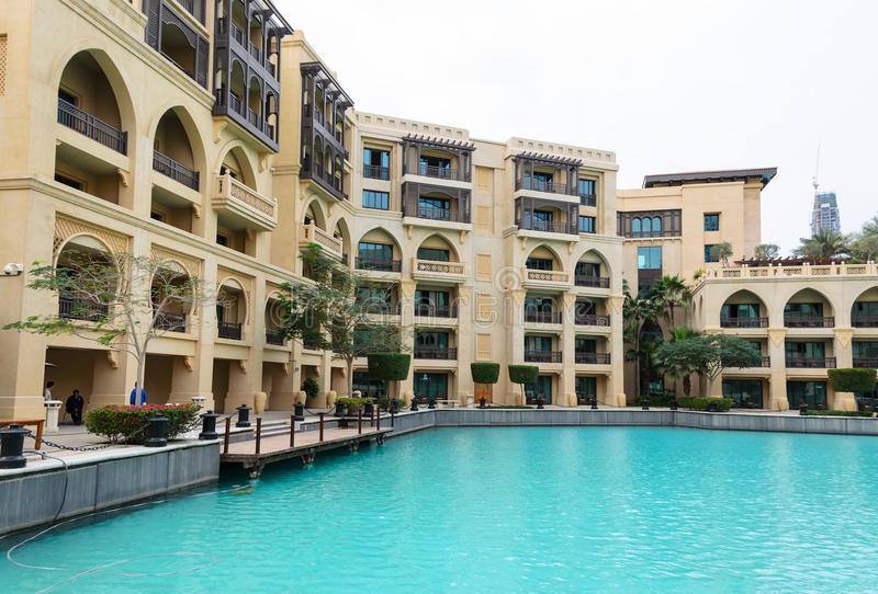 Oud Stadseiland in Burj complexe Khalifa, Doubai stock fotografie