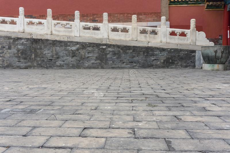 Oud stadslandschap, met architecturale structuur en oude cultuur royalty-vrije stock afbeelding