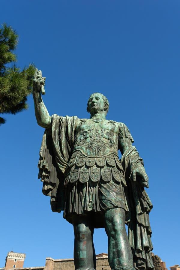 Oud Standbeeld In Rome Italië Stock Foto's
