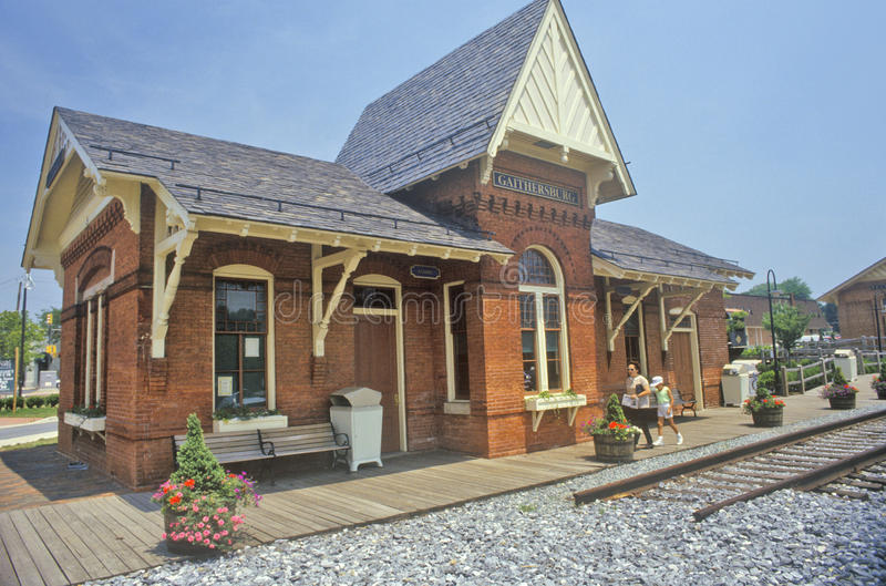 Oud Station, Gaithersburg, Maryland royalty-vrije stock foto's