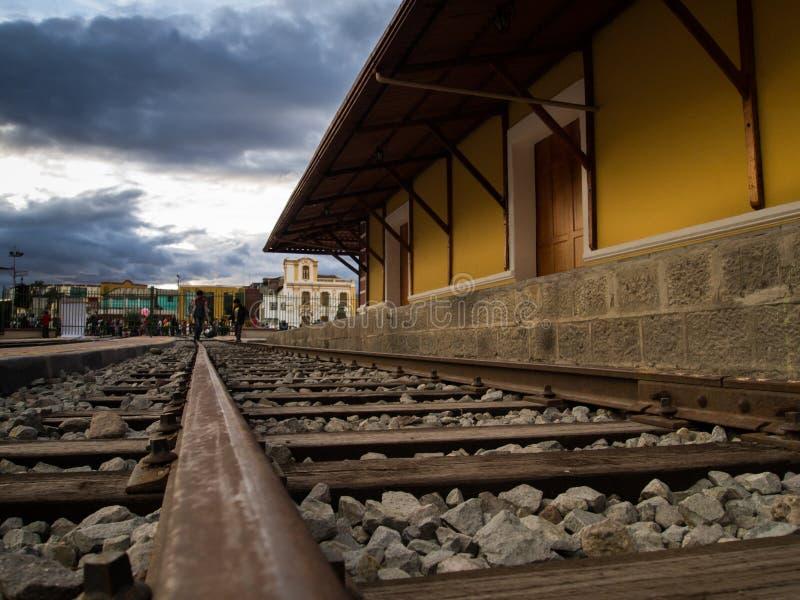 Oud station Riobamba Ecuador royalty-vrije stock afbeelding