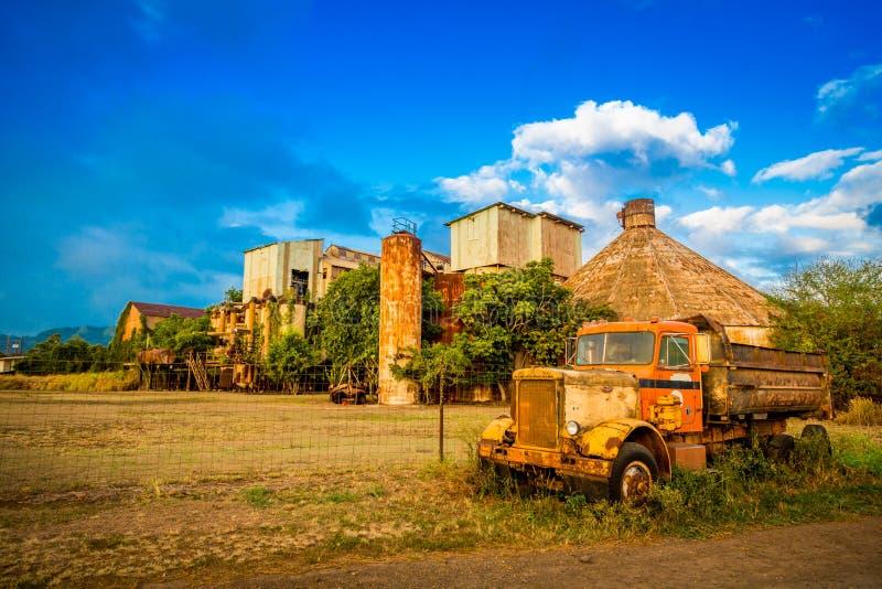 Oud Sugar Mill in Kauai Hawaï stock afbeeldingen