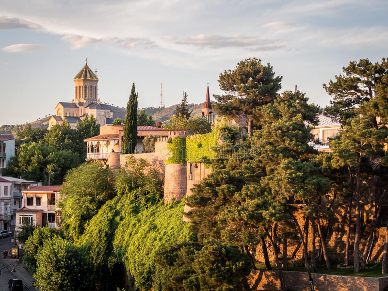 Oud Tbilisi royalty-vrije stock foto's