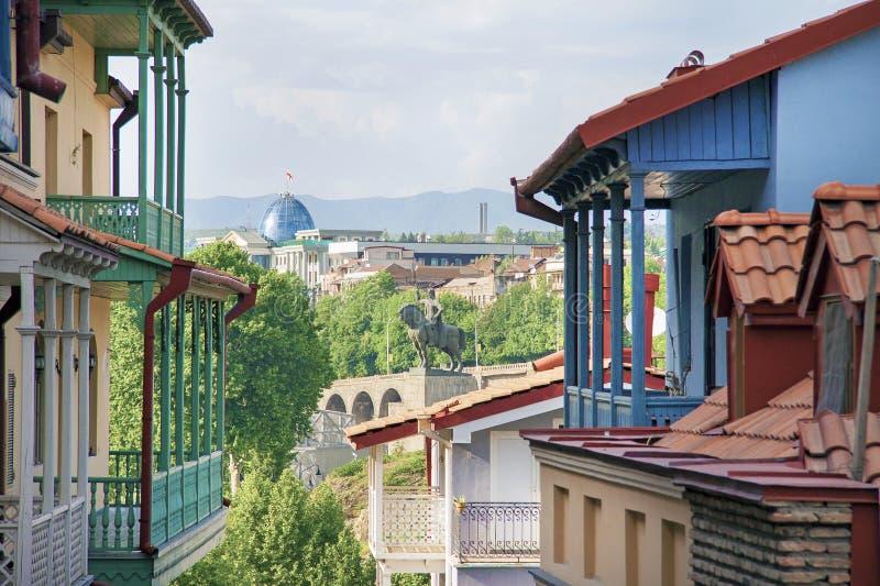 Oud Tbilisi stock afbeeldingen