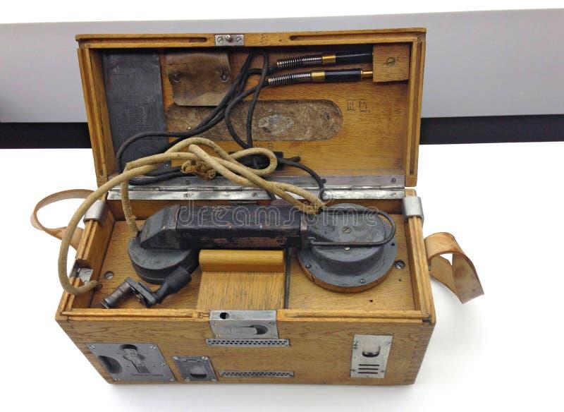 Oud TELEFOONTOESTEL stock foto