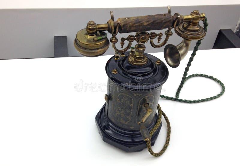 Oud TELEFOONTOESTEL stock afbeelding