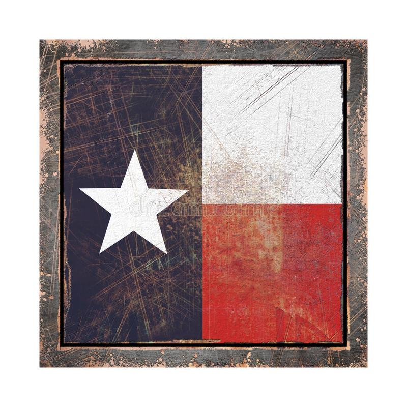 Oud Texas Flag stock illustratie