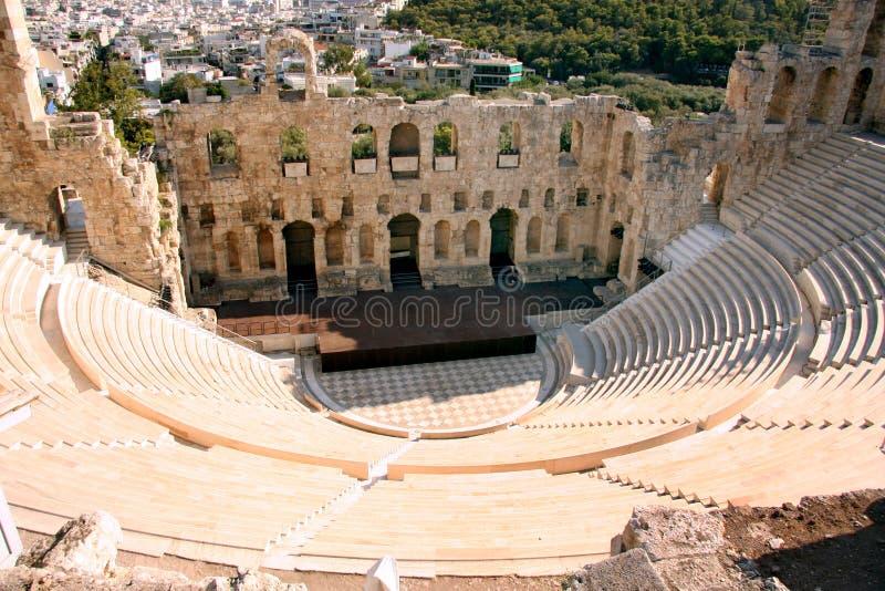 Oud theater - Athene - Griekenland stock afbeeldingen