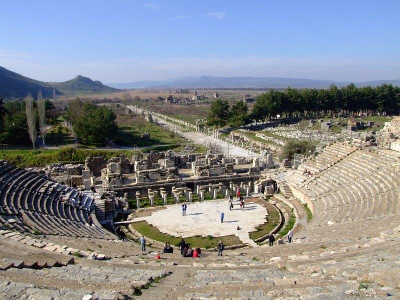 Oud theater Ephesus stock fotografie