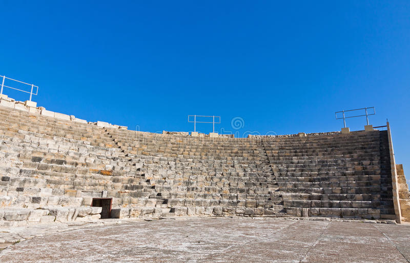 Oud theater in Kourion, Cyprus royalty-vrije stock foto's