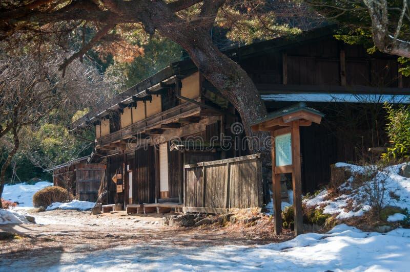 Oud theehuis op de Nakasendo-Manier stock foto's