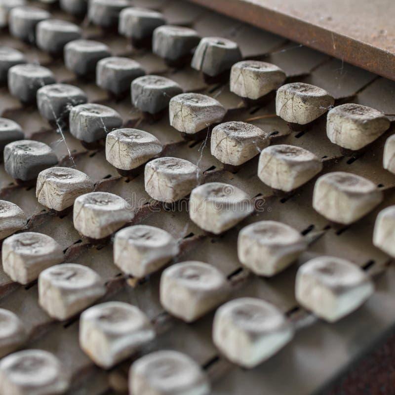 Oud toetsenbord royalty-vrije stock fotografie