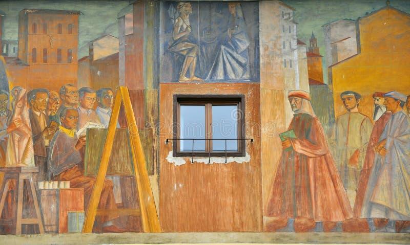 Oud Toscaans venster royalty-vrije stock afbeelding