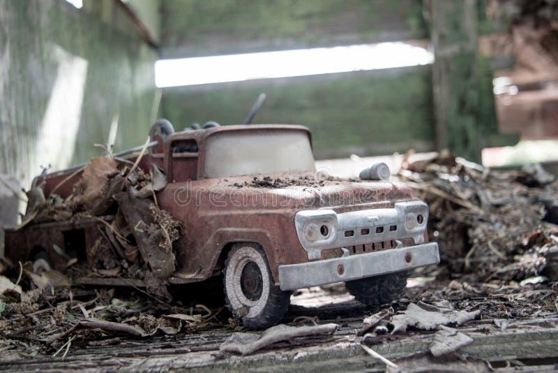 Oud Toy Fire Truck stock foto