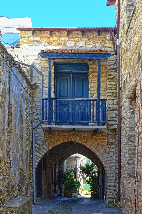 Oud Traditioneel Dorp in Cyprus royalty-vrije stock afbeelding