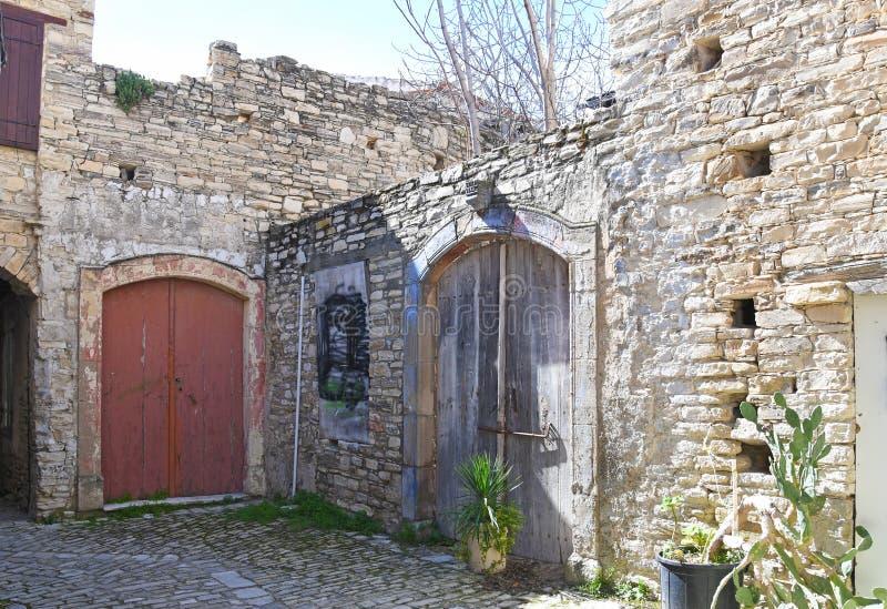 Oud Traditioneel Dorp in Cyprus royalty-vrije stock afbeeldingen