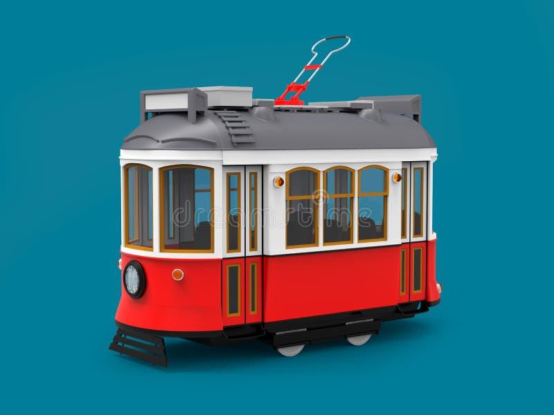 Oud trambeeldverhaal vector illustratie