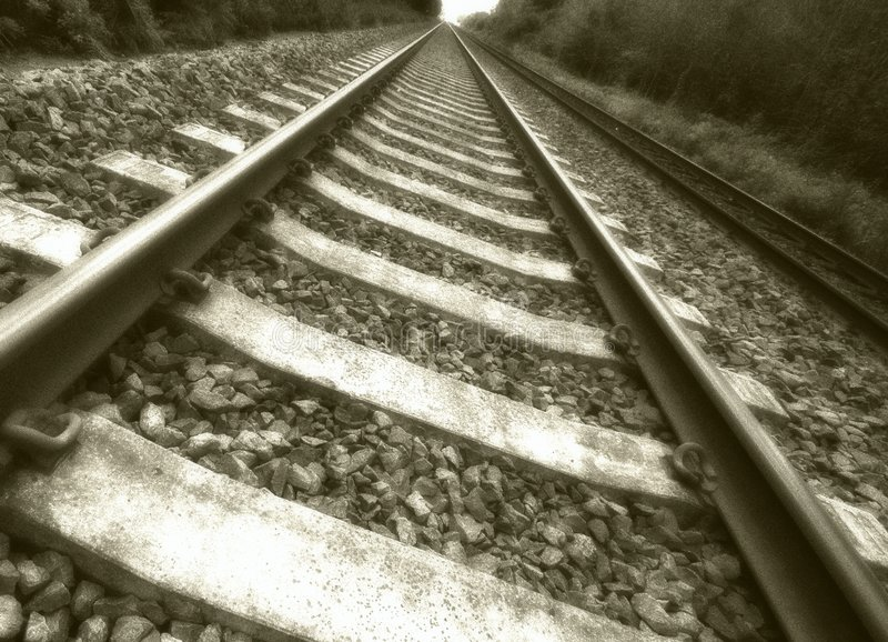 Oud treinspoor royalty-vrije stock fotografie