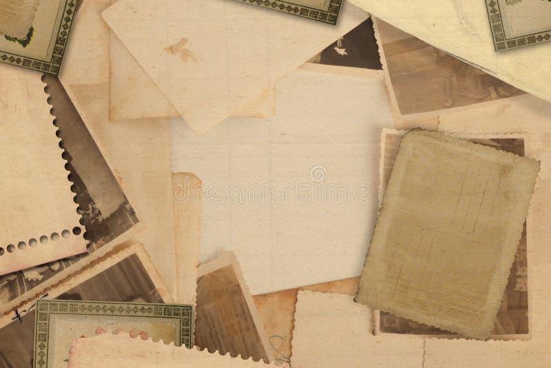 Oud uitstekend archief met foto's royalty-vrije stock foto's