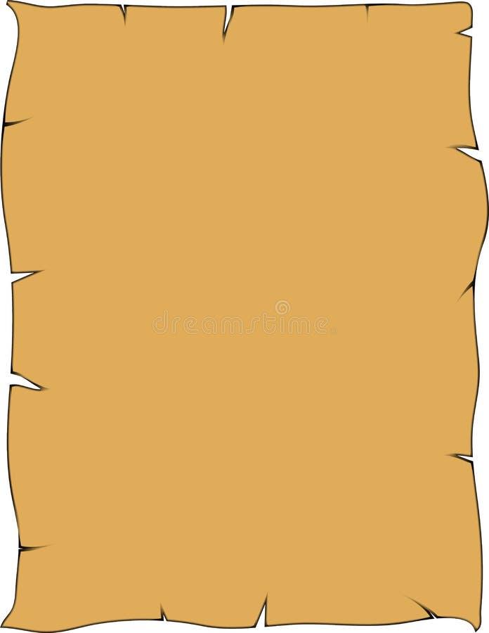 Oud uitstekend document stock illustratie