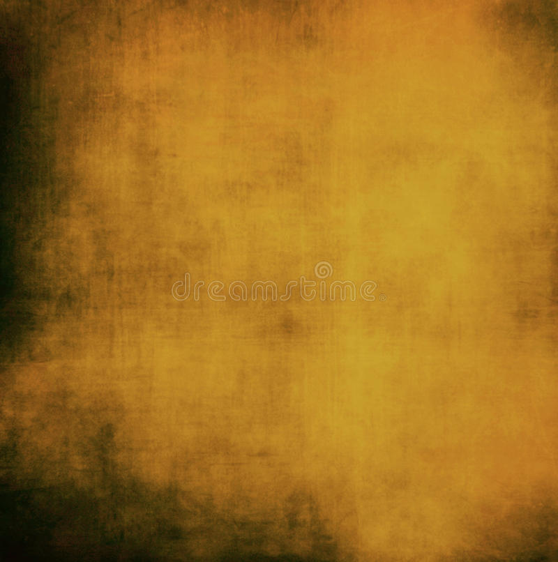 Oud uitstekend document het goud verontrustte ruwe achtergrond abstract g royalty-vrije illustratie