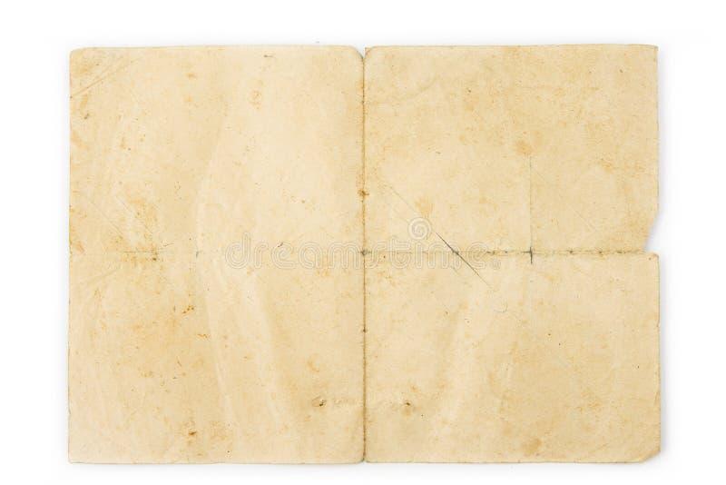 Oud uitstekend leeg document Textuur concent voor achtergronden royalty-vrije stock fotografie