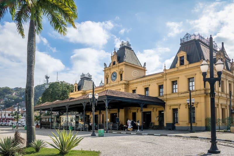 Oud Valongo-Station - Santos, Sao Paulo, Brazilië stock foto