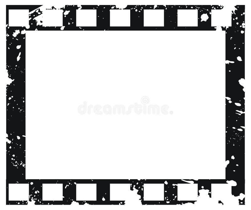 Oud vectorfilmframe in grungestijl vector illustratie